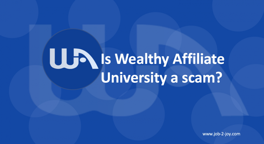 Wealthy affiliate university scam