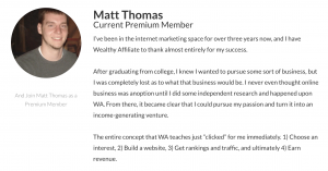 wealthy affiliate success story 1